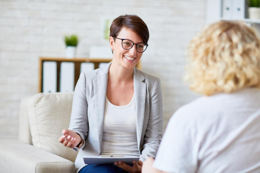 Therapist with a client